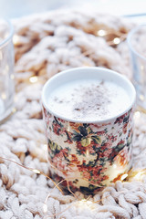 85FE2CD3 (millenks) Tags: nikon nikond90 nikkor 50mm d90 hygge cozy cute indoor light lights vsco vscocam fairy candle candles sweater coffee coffeetime coffeebreak cupofcoffee cup capuccino cappuccino cinnamon