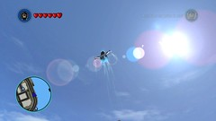 J.J. Abrams' Black Bolt (Gallisuchus (Clayface)) Tags: lego marvel superheroes videogame screenshot black bolt flying lens flare
