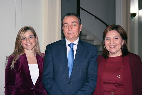 Eva Ortiz, Salvador Navarro e Isabel Bonig