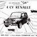 "Renault 4CV ""GH"" Accessories (late 1940s/early 1950s)"