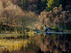 Boathouse (burnsmeisterj) Tags: olympus omd em1 boathouse reflections loch