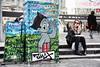 Place d'Italie (erichudson78) Tags: france iledefrance paris13ème placeditalie streetphotography scènederue streetart peinturemurale canoneos5d canonef24105mmf4lisusm lunettesnoires blackglasses cigarette cellphone smartphone girl woman jeunefemme assise sitting marches stairs candidpicture eyecontact painting peinture candidshot candid