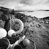 Lobster Pots at Kildonnan (Mark Rowell) Tags: eigg smallisles scotland hasselblad 903 swc fuji acros bw bigstopper blackandwhite 6x6 120 mediumformat film kildonnan