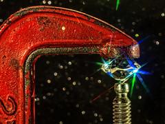 Bling Fastener (Silke Klimesch) Tags: macromonday fasteners hmm mm happymacromonday 7dwf cclamp screwclamp vice vise diamond sparkler rock leadglass swarovski diamondsareagirlsbestfriend crushedbythewheelsofindustry theluxurygap luxury vintage used tool work red rust bling glitzy glam starfilter bokeh black closeup macro glitterfoamsheet zaagklem schraubzwinge diamant kristallglas werkbank glitzermoosgummi pélican serrejoint loutil luxe sargento prensaenc herramienta morsetto brillare attrezzo grampodemarceneiro brilhante ferramenta trabalho bancada unealtă lux sclipici străluci makrofotografie nahaufnahme olympus omd em5 mzuikodigitaled60mm128macro microfourthirds on1photoraw2018