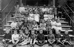 Class Photo (theirhistory) Tags: children kids boys school class form trousers shirt jumper wellies girls dress shoes sandals boots skirt