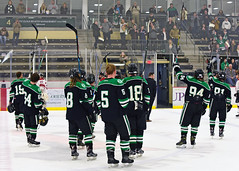 Team Salute to Family and Fans (R.A. Killmer) Tags: sru ice hockey salute fans family final regular season game black green acha slippery rock university
