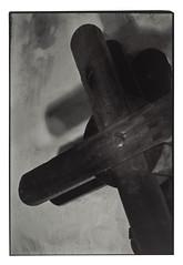 Wooden winch at the old freight train station (K.Pihl) Tags: canonef50mmf18 selenium print pellicolaanalogica film rodinal150 blackwhite schwarzweiss bw agfaapx100 analog canoneos50eelaniie darkroom