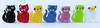 Colorful Cats (arbyreed) Tags: arbyreed colorful row inarow cats glasscats colorfulcatsinarow beads