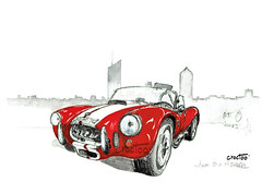 AC COBRA (Croctoo) Tags: croctoo croctoofr croquis aquarelle watercolor auto autoancienne cobra sportive course accobra