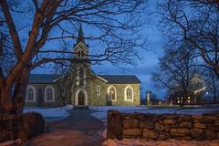 Church (G E Nilsen) Tags: church brønnøysund brønnøy dark night evening clouds winter snow