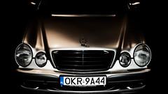 Back in Black. (kopiecmarcin) Tags: mercedes eklasse blackandwhite silver car olympus omd10mark2 lumixg25