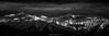 Winter Sunlight (N/B) (Frédéric Fossard) Tags: panorama monochrome noiretblanc blackandwhite ciel sky nuages clouds sunlight coucherdesoleil montagne mountain paysage landscape lumière light ombre shadow dramatique dramaticsky moodysky mood atmosphère alpes savoie vanoise maurienne altitude neige snow snowcapped hiver winter mountainside mountainrange mountainridge mountainpeaks