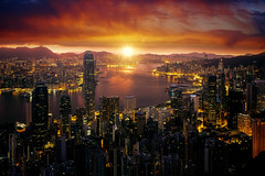 Cityscape of Marning sunrise and Hong kong city fron Victoria peak (anekphoto) Tags: hong city night skyline cityscape view china skyscraper business urban architecture office downtown district hongkong peak victoria harbor metropolis landscape scene travel modern building kong landmark asia sky financial beautiful sunset harbour tourism asian tower sunrise island beauty light economy scape chinese sea finance famous buildings vacation morning sun mountain