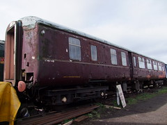 Maroon MkII Brake Standard Open at Loughborough sheds (APB Photography™) Tags: greatcentralrailway mkii brake standard carriage coach