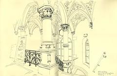 Hôtel des postes - Strasbourg (lolo wagner) Tags: strasbourg croquis sketch alsace usk urbansketchers escaliers laposte