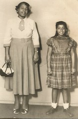 """Carolyn, age 9. Ida Mae age 27."" (912greens) Tags: mothers daughters 1950s portraits dresses africanamericans folksidontknow"