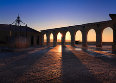 Fortaleza de Santa Catarina (Adam West Photography) Tags: adamwest algarve arade arches archtecture canon castle catarine composition courtyard dawn dusk fort fortaleza geometry iron lamps lights paving portico portimao portugal praiadarocha rays river roof shadows sky stone sunrise sunset sunstar terracotta wall warm well wrought