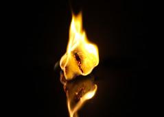 My Latest Flame (Helen Orozco) Tags: macromondays flame paper hmm reflection burning latestflame