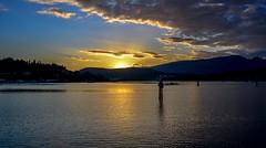 Grande Finale (Christie : Colour & Light Collection) Tags: sundown portmoody ocean metrovancouver rockypointpark park seascape evening glow clouds cloudwork bc canada britishcolumbia sunburst calm peaceful serene