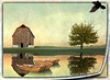 A Wisconsin Postcard (PaulO Classic. ©) Tags: barn farm tree hue colour sky red rural country grass wisconsin rustic postcard art landscape beautiful light artistry outdoors fineart royaltyfree edgerton rockcounty colorimage horizontal frost earlymoring autumnmorning farmlife lifeonthefarm ruralscene frontview calendarphoto autumninwisconsin wisconsinlandscape onetree barnyard dairyfarm agriculture yard earlymorning descriptivecolors pastel subdued frostcovered frostymorning field oldbarn redbarn fadedpaint hilltop roadside travel tourism wisconsintrails visitwisconsin idyllic leaves autumn fall autumnlandscape clearsky copyspace beautyinnature builtstructure serene wisconsinscene peaceful elegance oldfarm photoshop picmonkey tutorial photomanipulation