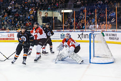 """Kansas City Mavericks vs. Cincinnati Cyclones, February 2, 2018, Silverstein Eye Centers Arena, Independence, Missouri.  Photo: © John Howe / Howe Creative Photography, all rights reserved 2018. • <a style=""""font-size:0.8em;"""" href=""""http://www.flickr.com/photos/134016632@N02/39219886985/"""" target=""""_blank"""">View on Flickr</a>"""