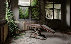 Hospital Chair (Left in the Lurch) Tags: abandoned hospital