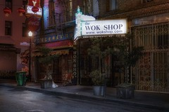 The wok shop (karinavera) Tags: city night photography urban ilcea7m2 sanfrancisco street people chinatown