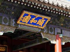 YiHeYuan - 頤和園 (█ Slices of Light █▀ ▀ ▀) Tags: carved wood sign name board yiheyuan 頤和園 entrance eastern summer palace gate beijing 北京 中國 china 中国 sony rx1rm2