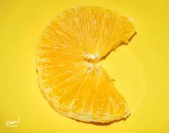 orange Pacman (Doctor Ahmed Badr) Tags: orange food foodphotography fruits yellow macro macrophotography art pacman gimp nikond3200 minimalism