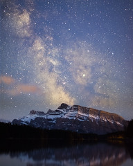 Mt Rundle and Two Jack Lake (Zachary Hayes) Tags: canada milkyway mountain mtrundle twojack lake stars night sky nikon digital landscape banff alberta astrophotography