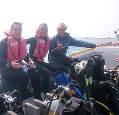 Gozo Azul Diving happy divers, Ponto D'Ouro