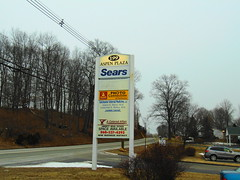 Sears (Colchester, Connecticut) (jjbers) Tags: colchester connecticut sears hometown store outlet appliance tools february 9 2018 road sign aspen plaza