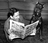 Rudy Vallee reading comics (Michael Vance1) Tags: singer music comics comicstrip comicbooks cartoonist dog