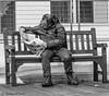 Sunday paper (ricklisle) Tags: street streetphotography blackandwhite people person man reading cagliari sardinia sardegna canon 600d