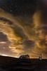 Night house (IanCoates94) Tags: yellow light pollution swansea gower rhossili coastguard longexposure clouds movement hut steps newmoon astrophotography d7100 nikon wales uk southwales coast