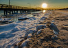 Dusk approaches over the pier (johnny4eyes1) Tags: horizon shoreline landscape sunset nature captreestatepark quiet cold ocean solitude pier sundown calm winter snow seaside sea dusk ice