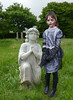 angel 33 (The Lure of Salvage) Tags: lureofsalvage lure salvage fishfork hollingworth whitby goth fest oct 2017 gothik wgw grimm little girl tombstone headstone graveyard cemetery dark gothic strange eerie sexy kindness stranger