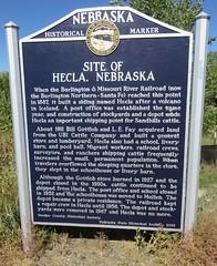 Site of Hecla, Nebraska Marker (Hecla, Nebraska) (courthouselover) Tags: nebraska ne nebraskahistoricalmarkers hookercounty hecla sandhills