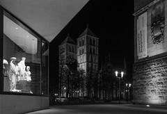 framed by LWL Museum (Danyel B. Photography) Tags: st paulus dom lwl museum münster city night bw sw schwarz weis black white