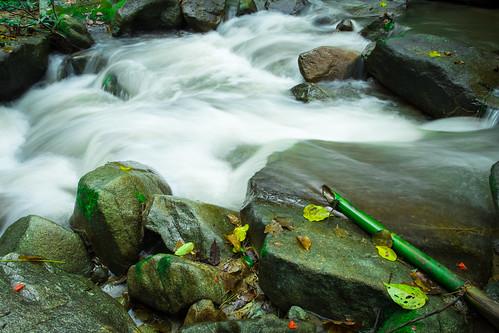 Water flowing in Bann Mae Mae village