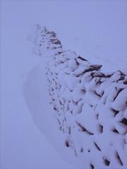 abstraction (Ron Layters) Tags: snow whiteout freezing winter fog drystonewall shapes drift snowdrift shiningtor white goytvalley frozen poorvisibility badweather highpeak peakdistrict england cheshire unitedkingdom slidefilmthenscanned slide transparency fujichrome velvia canoneos300v canon eos300v rebelti ronlayters highestpositioninexplore427onsaturdaymarch320182018 explore explored interesting