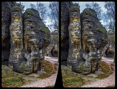 Tisa Walls 3-D / CrossView / Stereoscopy / HDR / Raw (Stereotron) Tags: saxony sachsen saxonswitzerland sandstone mountains nationalpark sächsischeschweiz tisawalls felsenwände rocks europe germany crosseye crosseyed crossview xview cross eye pair freeview sidebyside sbs kreuzblick 3d 3dphoto 3dstereo 3rddimension spatial stereo stereo3d stereophoto stereophotography stereoscopic stereoscopy stereotron threedimensional stereoview stereophotomaker stereophotograph 3dpicture 3dglasses 3dimage canon eos 550d chacha singlelens kitlens 1855mm tonemapping hdr hdri raw