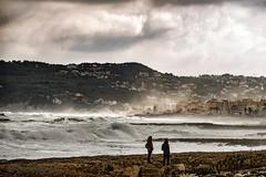 Día de nubbes y tormenta... (Pilar Lozano ♥) Tags: tormenta mar cielo
