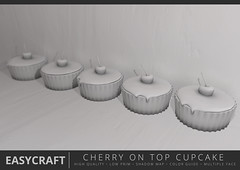 EASYCRAFT - Full Perm Mesh Cherry on Top (Fourth Oxygen) Tags: sl secondlife second life mesh fullperm full perm shadow easy sculpt cupcake cake spring
