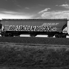 Lincoln Brigade (ZeitFoto Photography) Tags: monochrome washington vancouver pacificnorthwest civilwar spain train lincolnbrigade juliannelson