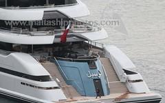 #Lurssenbuilt #Superyacht #AL #LUSAIL leaving #Valletta (#GrandHarbour), #Malta - 22.02.2018 - www.maltashipphotos.com (Malta Ship Photos & Action Photos) Tags: sea qatar doha amiri yacht luxury