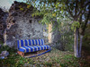 Put the settee in the garden (VillaRhapsody) Tags: house buidling street road kayaköy deserted abandoned fethiye blue settee sofa garden