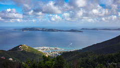 From the Top of Tortola (clive_metcalfe) Tags: beautiful caribbean tortola island british virginisland clouds blue marina harbour tui