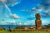 Hanga Roa 🌈 🗿 (sakarina_r) Tags: moai rainbow hangaroa tepitootehenua polynesia polinesia chile isladepascua rapanui easterisland