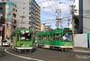 Groen duo (Maurits van den Toorn) Tags: tram tramway tranvia strassenbahn eléctrico villamos sapporo japan nippon